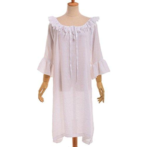 Irische mittelalterliche Kostüm Chemise gekräuselt Tiered Dress White Bottoming Kleid - Victorian Männer Kostüme
