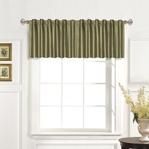United Curtain 100-Percent Dupioni Silk Straight Valance, 42 by 19-Inch, Sage
