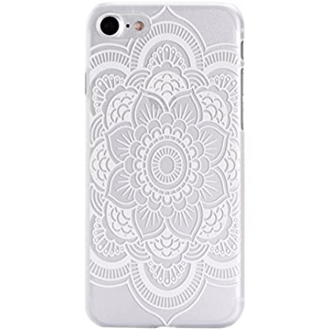 iPhone 7 Hard Case, Per Apple iPhone 7 Cover Rigida, Asnlove Cassa Della PC Duro Cover di Gomma Rigida per iPhone 7 Custodia Antishock Ultra-Slim Hard Designo Motivo a Cuori in Bianco