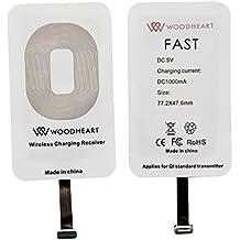WOODHEART Universal QI receptor de carga inalámbrico para Apple iPhone 7 más, iPhone 6s más, iPhone 5 5s, iPhone 5C, mini iPad, etc (IOS Receiver)