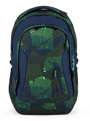 Satch Sleek Infra Green Schulrucksack Set 2tlg.