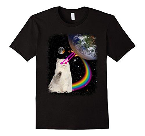 PREMIUM Laser Eyes Space Cat T-Shirt
