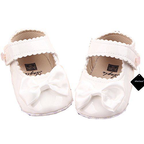 Preisvergleich Produktbild xhorizon TM FM8 Polierte Schuhe mit Schleife wie Prinzessin aus polierter und patentierter PU-Leder für Babys Kleinkinder