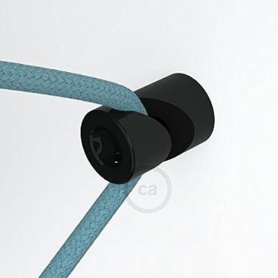 """Creative-Cables DCG01NER Decentratore, Gancio a """"V"""" a Soffitto o Parete Universale per Cavo Elettrico Tessile, Nero"""