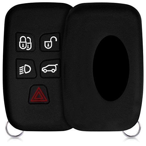 Kwmobile cover chiave auto per land rover jaguar - protezione in silicone - guscio protettivo coprichiave - custodia per chiave controllo remoto land rover jaguar con 5 tasti