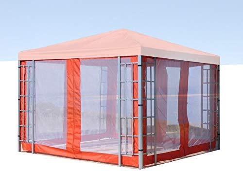 QUICK STAR 4 Seitenteile mit Moskitonetz für Rank Pavillon 3x3m Seitenwand Terra