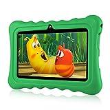 Ainol Q88-(Tablet para niños con WiFi de 7 Pulgadas,Tablet Infantil de Android 7.1, Regalo para niños,Quad Core 1GB+8GB,Soporta Tarjeta TF 64GB,Doble cámara,Juegos educativos) Verde