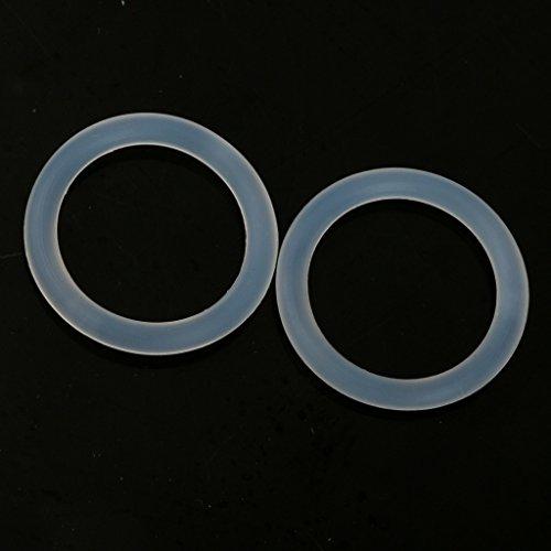 Preisvergleich Produktbild Sharplace 10erSet Mini Bunt Silikonring Schnulleradapter Schnullerkette Halter Clip Adapter - Klar
