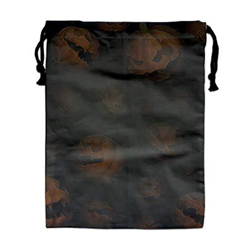 Naiyin Free Scary Halloween Nylon Drawstring Drawstring Bag for Girls and Boys (Scary School Girl Halloween)