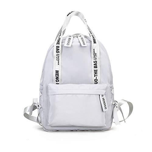VICTOESimple Canvas Rucksack Damen Jugend Student Bag Fashion Nylon Rucksack Reisetasche Bow Lady Schultertasche, grau (Grau) - VICTOE-9519