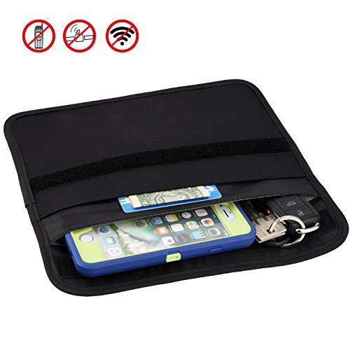Wisdompro Borsa, RFID Segnale di Blocco Custodia Borsa schermatura per Il Telefono Cellulare sulla Protezione e la Chiave dell'automobile FOB 9,5 x 5,5 Pollici