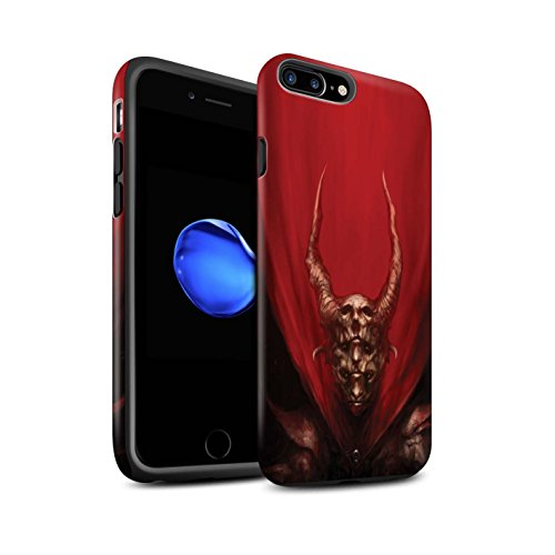 Offiziell Chris Cold Hülle / Matte Harten Stoßfest Case für Apple iPhone 7 Plus / Rot Herzog Muster / Dunkle Kunst Dämon Kollektion Rot Herzog