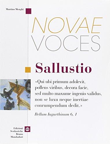 Novae voces. Sallustio. Per i Licei e gli Ist. magistrali