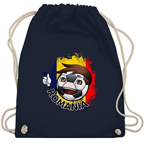 Fußball - Fußballjunge Rumänien - Unisize - Navy Blau - WM110 - Turnbeutel & Gym Bag -