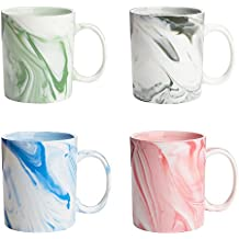 Panbado, Juego de Tazas de café vajilla de Porcelana, 4 Piezas, mug,