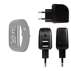 DURAGADGET Cargador con Enchufe Europeo para Smartwatch Diggro DI03 / Diggro DI02 / Diggro GV68 / Polar M200 / Polar M430 - con Doble Entrada USB