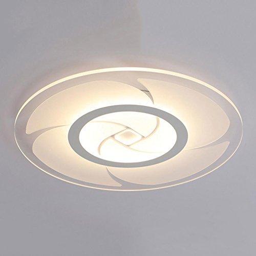 Rollsnownow Deckenleuchte Kuppel Licht Acryl und Eisen in weiß und matt Farbe rund swirl geformt Schatten und LED Perlen Beleuchtung Wohnzimmer Esszimmer Küche Studie Schlafzimmer WC andere 40 * 40cm - Eisen-swirl