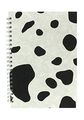 Pink Pig Posh Mulberry - Cuaderno de dibujo (A4, papel blanco, formato vertical), diseño de estampado de vaca