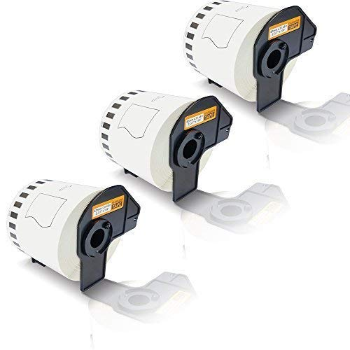 3x Kompatible Etiketten-Rolle für Brother P-Touch DK-44205 P-Touch QL 800 P-Touch QL 810 W P-Touch QL 820 NWB P-Touch QL800 P-Touch QL810W P-Touch QL820NWB Endlos Etiketten Drucker Plus Serie