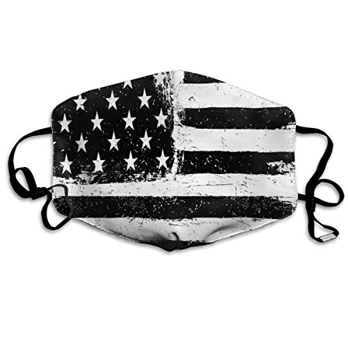 Black and White American Flag Anti-dust Cotton Mouth Face Masks Mouth Cover for Man and Woman