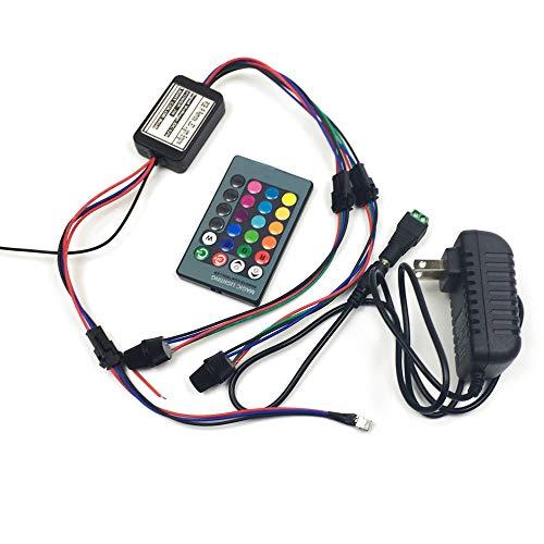 Rayauto LED-Lichtquelle, Fernbedienung mit 24 Tasten, 85-265 V, 2 W, Lichtwellenleiter, Power-Motor, Doppelkopf