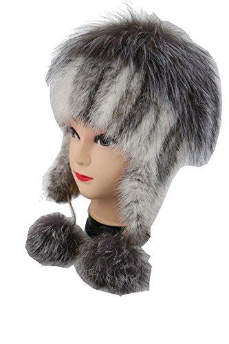 YstingReale Knit visone Cappello di pelliccia d