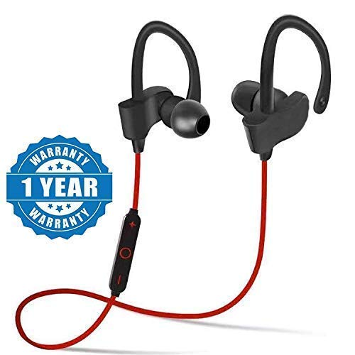 UZUMU QC-10 Bluetooth Earphone Wireless Headphones for Mobile Phone Sports Stereo Jogger,Running,Gyming Bluetooth Headset Compatible with All Devices(Multicolour)