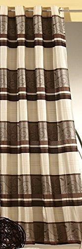 Jacquard-gewebe (Gardine BLICKDICHT Vorhang Ösenschal aus edel glänzendem Jacquard-Gewebe in schoko braun HxB 245x140 cm hochwertige Qualität mit schönem Fall …auspacken, aufhängen, fertig! Typ195)