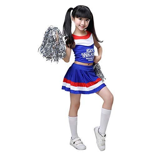 Haodasi Mädchen Cheerleader Kostüm Schule Musical Cute Cheerleading Athletic Sport Uniform Fancy Dress