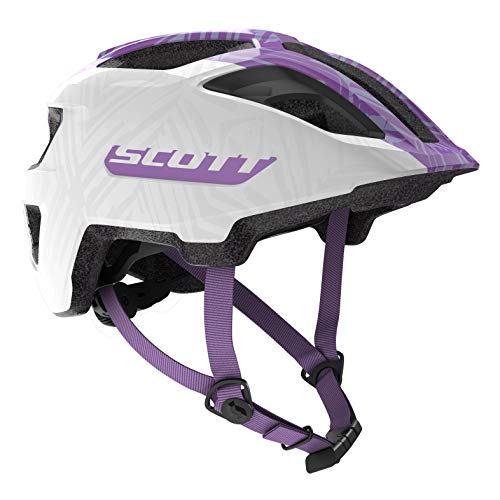 Scott Spunto JR Kinder Fahrrad Helm Gr. 50-56cm weiß/lila 2019