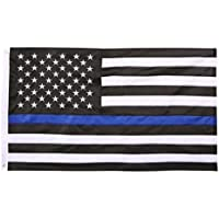 Bandiera americana, per la nostra polizia e militari ci bandiera.Sottile linea blu, 0,9x 1,5m.Top Garden