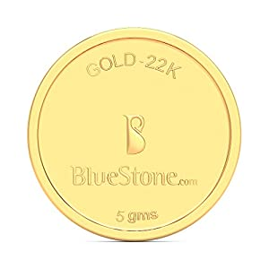 BlueStone BIS Hallmarked 5 grams 22k (916) Yellow Gold Precious Coin