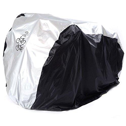 ANFTOP fahrradabdeckung für 2 fahrräder wasserdicht fahrradschutzhülle wasserfest fahrrad schutzhülle Fahrradschutz indoor outdoor abdeckung , fahrradabdeckungen nylon Cover 200x75x110CM Hülle