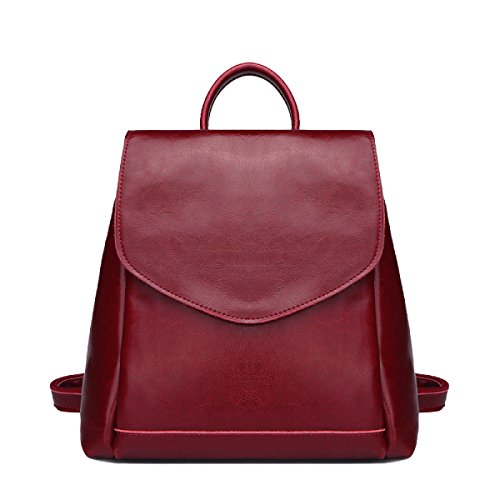Borsa In Pelle Casuale Signora Studenti Collegio Vento Red