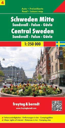 Schweden Mitte - Sundsvall - Falun - Gävle, Autokarte 1:250.000, Blatt 4, freytag & berndt Auto + Freizeitkarten: Sundsvall - Falun - Galve (Landkarte Schweden)