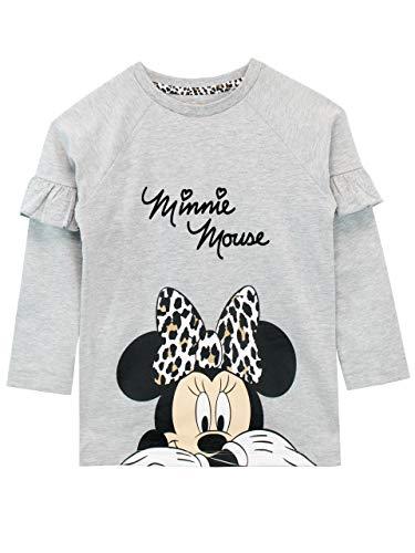 Disney Mädchen Minnie Mouse Sweatshirt Grau 98 Disney Mädchen Minnie Mouse