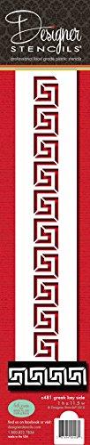 Designer Schablonen C481Griechischer Schlüssel Kuchen Schablone, beige/halbtransparent -