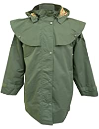 Womens Waterproof Jacket 3 Quarter With Hood Windproof Lightweight Coat