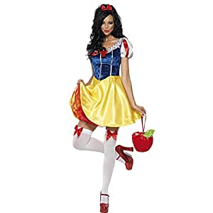 Deguisement costume Adulte cosplay Robe Blanche Neige Lingerie Sexy snow white