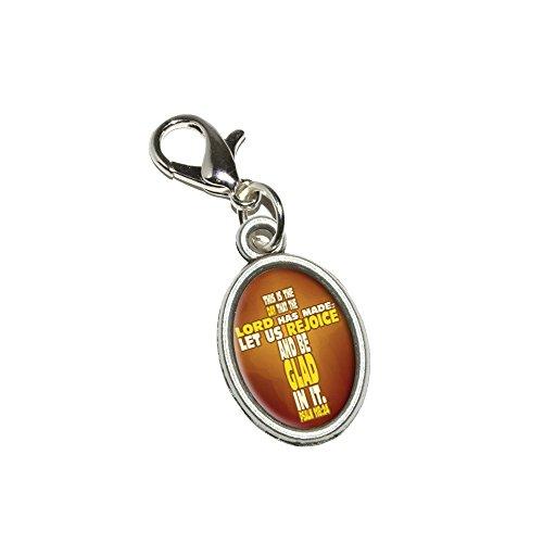 Graphics and More Bibel Vers Kreuz Psalm–Das ist Tag, DASS der Herr Anhänger Armband Antik Zipper Pull Oval Charme mit Karabinerverschluss