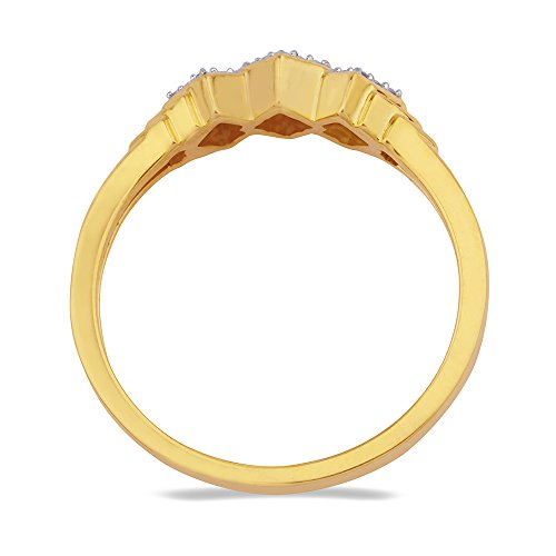 C. Krishniah Chetty Jewellers Classic Collection 18k (750) Yellow Gold and Diamond Ring