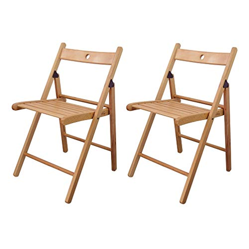 LVJING IKEA Klappstuhl, Klappstühle aus Holz, Farbe Natur, 2 Stück