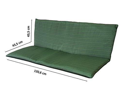 2er Bankauflage Auflage Sitzauflage Gartenbank Polster Kissen Wasserabweisend