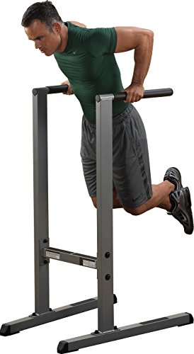 Body-Solid GDIP59 Dipständer Dip-Station Dips Barren Trizepstrainer Push Up Stand Bar (Stand Dip-station)