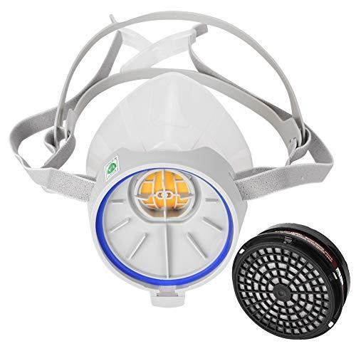 ST FDG hochwertige Silikon-Antivirus-Halbmaske, Halbgesichts-Silikonfilter Automatische Atemschutzmaske mit Filtern - Maske Kostüm Atemschutzmaske