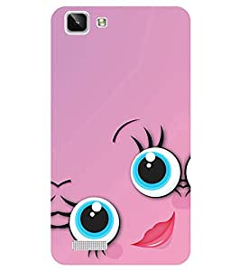 Chiraiyaa Designer Printed Premium Back Cover Case for Vivo Y27 Vivo Y27L (smiley girl pink lips) (Multicolor)