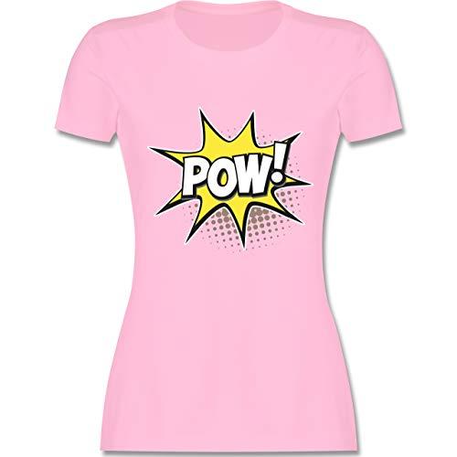 Karneval & Fasching - Popart Karneval Kostüm POW! - S - Rosa - L191 - Damen T-Shirt ()