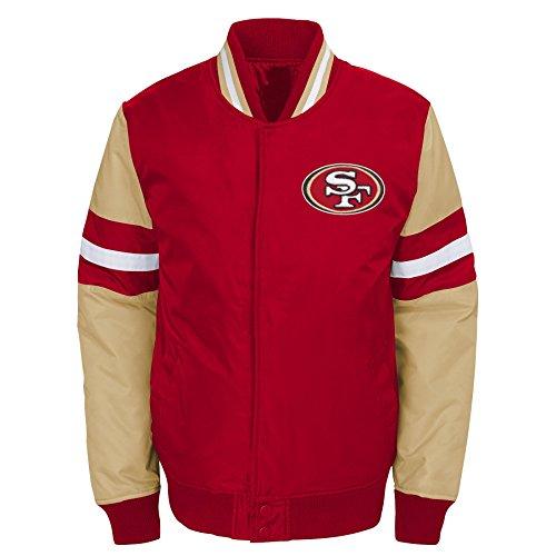 Outerstuff NFL San Francisco 49ers Jungen Youth legendären Farbe Blockiert Varsity Jacke, Jungen, 9K1B7FAJ7 49R -BXL20, Purpurrot, Youth XL (Varsity Jacken Für Kinder)