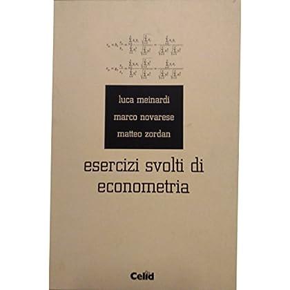 Esercizi Svolti Di Econometria