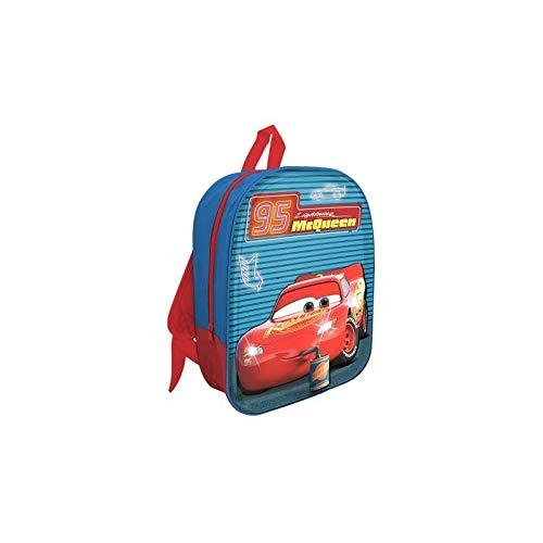 mc Zaino Led 3D Cars Zainetto per Bambini, 32 cm, Azzurro/Rosso